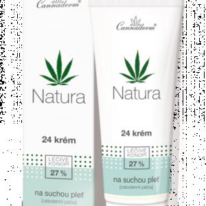 Cannaderm Natura 24 - Krem nawilżający do suchej i wrażliwej skóry