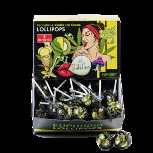 Lizak z gumą do żucia Cannabis & Salted Caramel