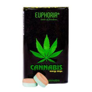 Euphoria - Dropsy Energy konopno - cytrynowe z tauryną i kofeiną 25 g