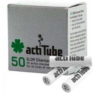 Filtry z węglem aktywnym slim - 50 sztuk