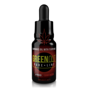 Olejek CBD Greenout Hybrid Sour Diesel Mini